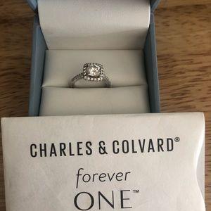 Charles & Colvard wedding ring 14k